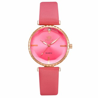 LMDGO Quartz Fashion Trend Casual Luxury Party Ladies Exquisite Quartz Watch Red