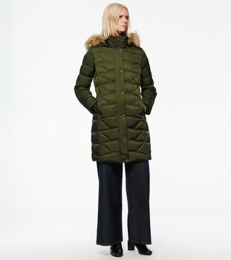 Andrew Marc MEDINA HEXAGON QUILTED DOWN COAT