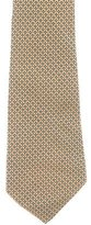 Battistoni Geometric Print Silk Tie