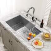 Dimakai Stainless Steel 32'' L x 19'' W Undermount Kitchen Sink with Basket Strainer Dimakai