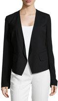 Donna Karan Long-Sleeve Open-Front Jacket, Black