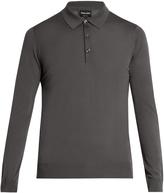 Giorgio Armani Long-sleeved wool polo shirt