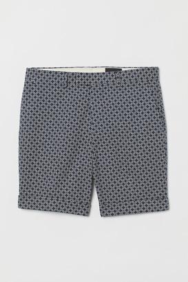 H&M Jacquard-patterned Shorts - Blue