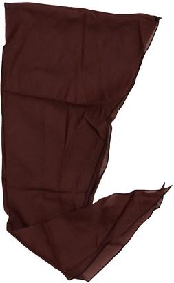 Hermes Losange Burgundy Cotton Scarves