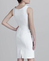 Versace Sleeveless Mini-Peplum Dress, White