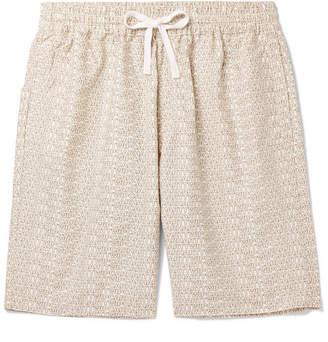 Carhartt Wip Wide-Leg Logo-Print Cotton-Twill Shorts