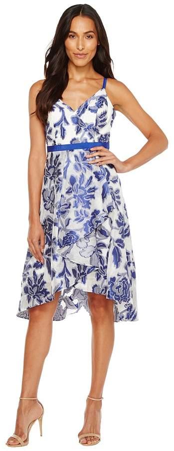 Adrianna Papell Burnout Jacquard Fit Flare Dress Women's Dress