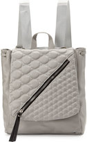 Cynthia Vincent Irene Quilted-Flap Backpack, Gray Matte