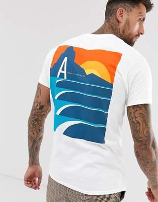 Abz London A London landscape back print t-shirt-White