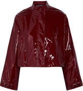 3.1 Phillip Lim Cropped Vinyl Jacket - Burgundy