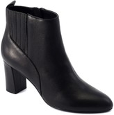 David Tate Barrel Shaped Heel Leather Booties -Delores