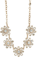 Natasha Accessories Crystal Flower Necklace