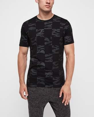 Express Camo Pattern Crew Neck T-Shirt