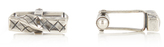 Bottega Veneta Intrecciato silver cufflinks