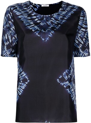P.A.R.O.S.H. Tie-Dye Silk Blouse