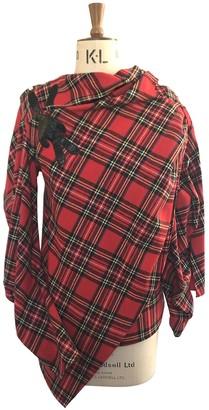 Awake Red Wool Top for Women