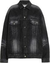Balenciaga Oversized Acid-Washed Satin Jacket