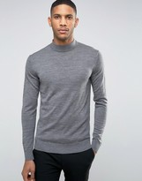 Jack and Jones High Neck Knit in Merino Wool