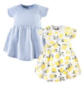 Hudson Baby Baby Girl Cotton Dress, 2-Pack