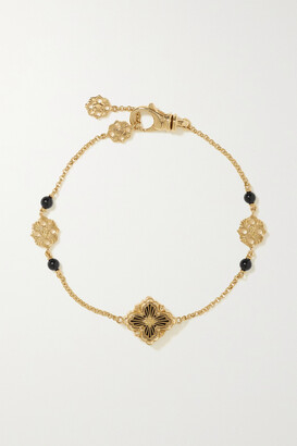 Buccellati Opera Tulle 18-karat Rose Gold Onyx Bracelet - L