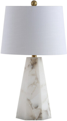 Jonathan Y Designs Xio 25.5In Alabaster Led Table Lamp