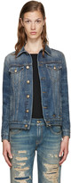 R 13 Blue Denim Tailored Trucker Jacket
