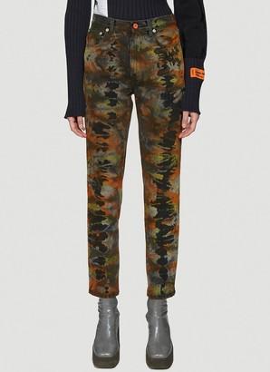 Heron Preston Tie Dye Slim Fit Jeans