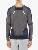Adidas By Kolor Grey Hybrid Long-sleeved T-shirt