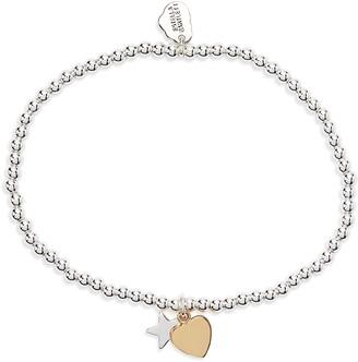 Estella Bartlett Sienna Heart & Moon Charm Bracelet