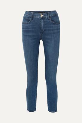 3x1 Luna Mini Split High-rise Slim-leg Jeans - Mid denim