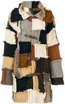 Dondup long patchwork cardigan