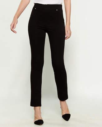 Dash Embellished Ponte Pull-On Pants