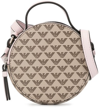 Emporio Armani Kids Round Logo Embossed Shoulder Bag