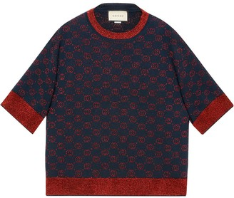Gucci Interlocking G jacquard-knit top