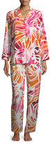 Natori Zelda Floral-Print Long Pajama Set