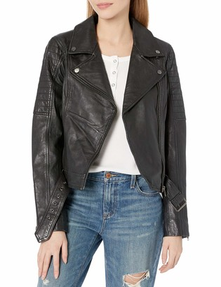 Cupcakes And Cashmere Women's Dilbert Leatehr Moto Jacket