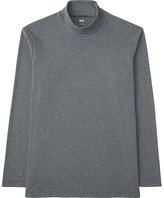 Uniqlo Men Soft Touch Mock Neck Long Sleeve T-Shirt