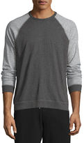 Rag & Bone Standard Issue Colorblock Raglan-Sleeve Shirt, Pewter