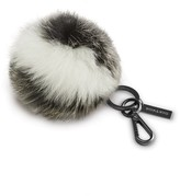 Soia & Kyo MAYLEE Fur pompom on lustrous key ring in Black/White