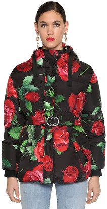 Dolce & Gabbana REVERSIBLE PRINTED NYLON DOWN JACKET