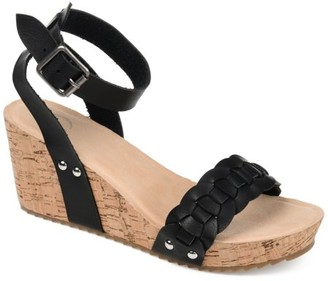 Brinley Co. Womens Woven Wedge Sandals