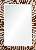 The Well Appointed House Cream and Chocolate Hide Finish Wall Mirror-Available in Four Different Sizes