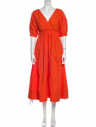 Self-Portrait 2020 Long Dress w/ Tags Orange