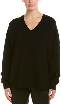 Fendi Tunic Wool & Cashmere-Blend Sweater