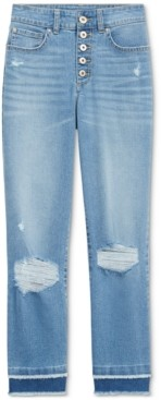 INC International Concepts Inc Petite Delancey Straight-Leg Cropped Jeans, Created for Macy's