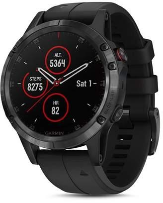 Garmin fenix® 5 Plus Sapphire Premium Multisport GPS Smartwatch, 47mm