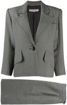 Saint Laurent Pre Owned 1980's structured shoulders blazer
