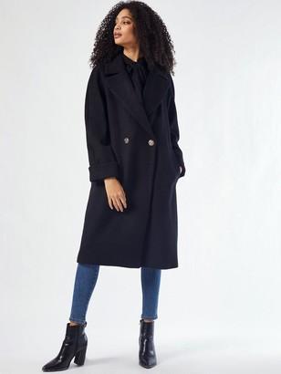 Dorothy Perkins Boyfriend Premium Wool Coat -Black
