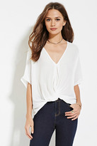 Forever 21 Contemporary Twisted-Hem Chiffon Top