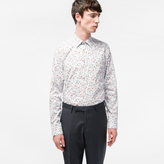 Paul Smith Men's Tailored-Fit Light Blue 'Spring Floral' Print Shirt